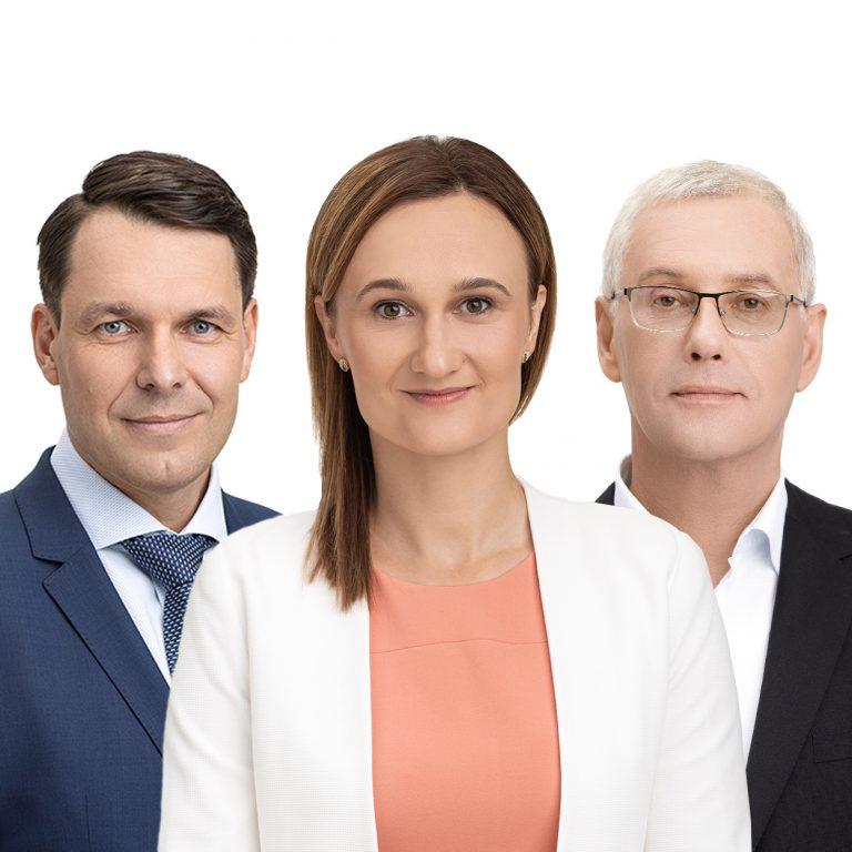 Andrius Bagdonas, Viktorija Čmilytė-Nielsen, Raimundas Lopata