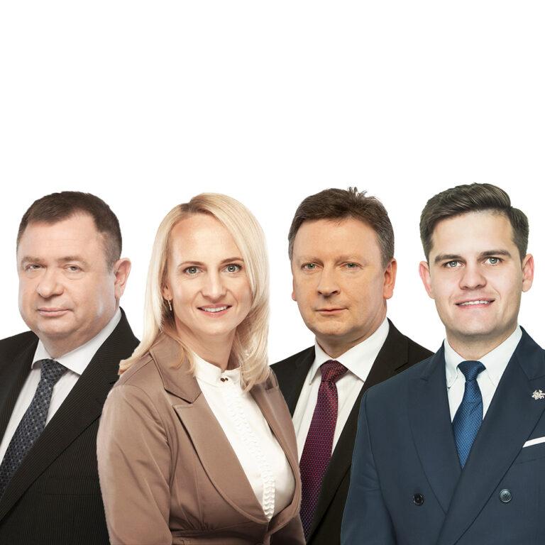 Edita Rudelienė, Dovydas Kaminskas, Kestutis Vaitukaitis, Audrius Klišonis