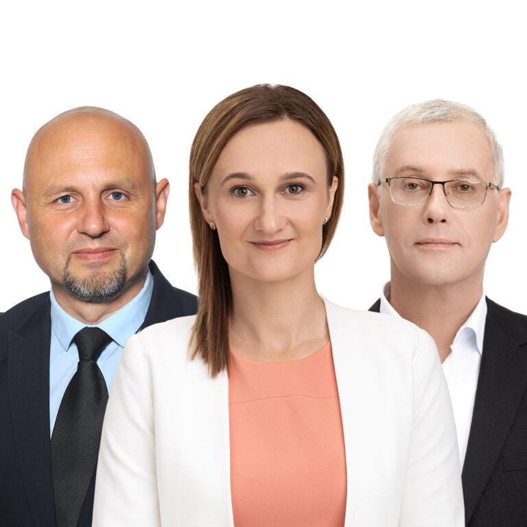 Egidijus Papečkys, Viktorija Čmilytė-Nielsen, Raimundas Lopata