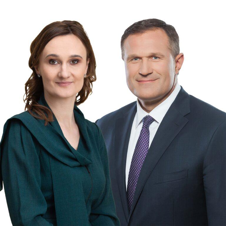 Viktorija Čmilytė-Nielsen ir Virgilijus Alekna