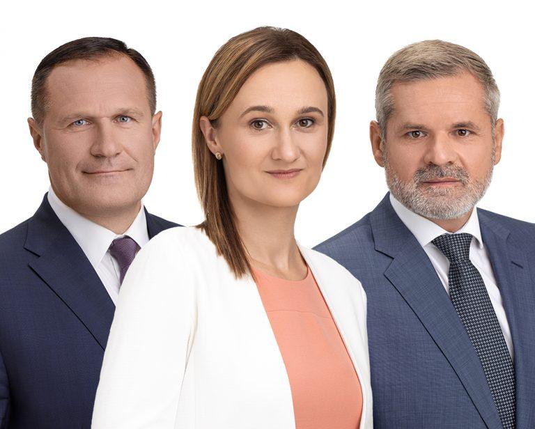 Viktorija Čmilytė-Nielsen, Virgilijus Alekna, Paulius Malžinskas