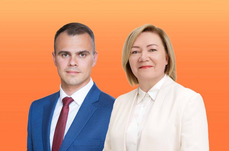 Kandidatai į merus A. Šatevičius ir D. Viliūnienė