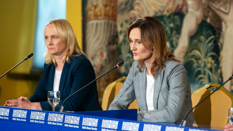 Edita Rudelienė ir Viktorija Čmilytė-Nielsen (15min nuotr.)